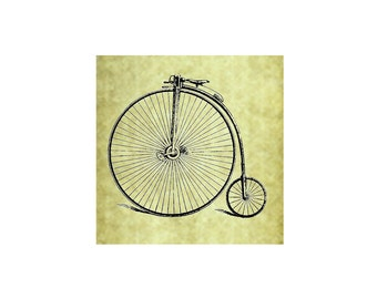 VINTAGE BIKE Rubber Stamp~Bicycle or Tricycle~Large Cling Stamp~Old Fashioned Bike~Trike~Card Making~DIY~Crafting Supply~Stamping (54-04 )