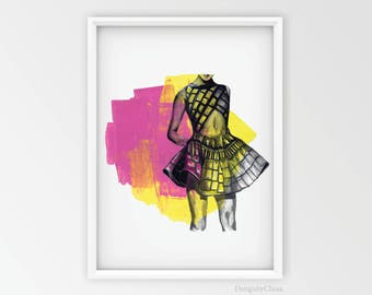Fashion Wall Art Prints Home Decor Card Poster Dress