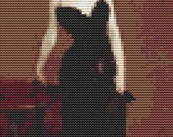 Woman Cross Stitch Chart, Madame X MINI Cross Stitch Pattern PDF, Victorian Cross Stitch, Art Cross Stitch, John Singer Sargent