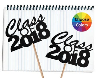 DIY Graduation Centerpiece 6 Inch Class of 2018 Decoration Graduation Table Decoration Party Supply Set Of 2 Choose From 20 Colors