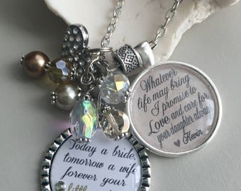 Mother of the Bride Gift, Mother necklace, Gift from Bride, Mother gift, Mother of the Bride Gift from Groom Thank you gift Rehearsal dinner