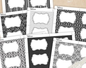 Editable Labels - Set 7 - gift tag, sticker, card, party favor, label, place card, name tag - Instant Download
