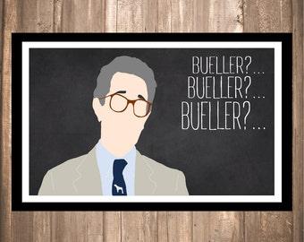 "INSTANT DOWNLOAD - Ferris Bueller's Day Off ""Bueller?"" Print"