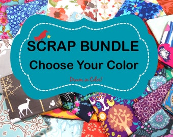 Quilting Scrap Fabric Bundle, Fabric Scraps, Bolt Ends, Fat Quarters, Scrappy Quilt, Remnants, Cotton Fabric, 3 Yards By Weight, One Pound