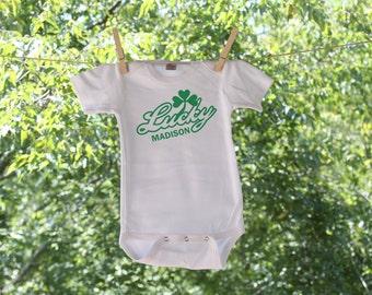 Lucky Personalized St Patrick's Infant Bodysuit- St. Patrick's Day