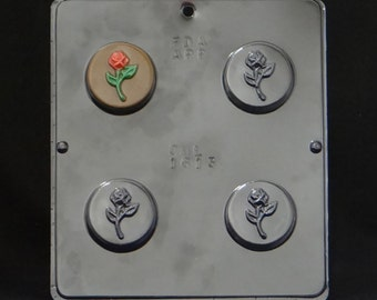 Rose Bud Oreo Cookie Chocolate Candy Mold Valentines Day 1613