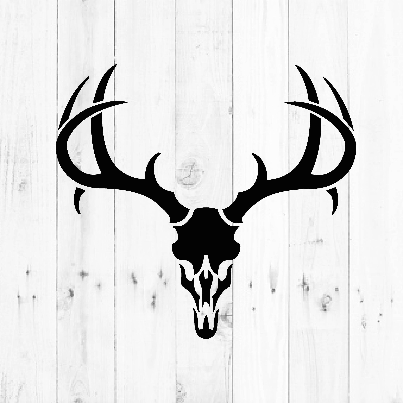 deer skull svg hunting and fishing svg instant download rh etsy com deer skull emblem deer skull logo design