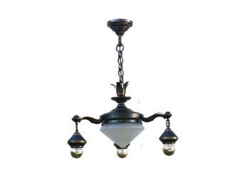 Antique chandelier classicism 1930s lamp