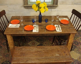 Dining Room Table Driftwood Cherry Stained Satin Polycrylic Coating 60