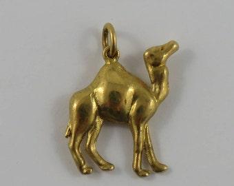 Camel 14K Gold Vintage Charm For Bracelet