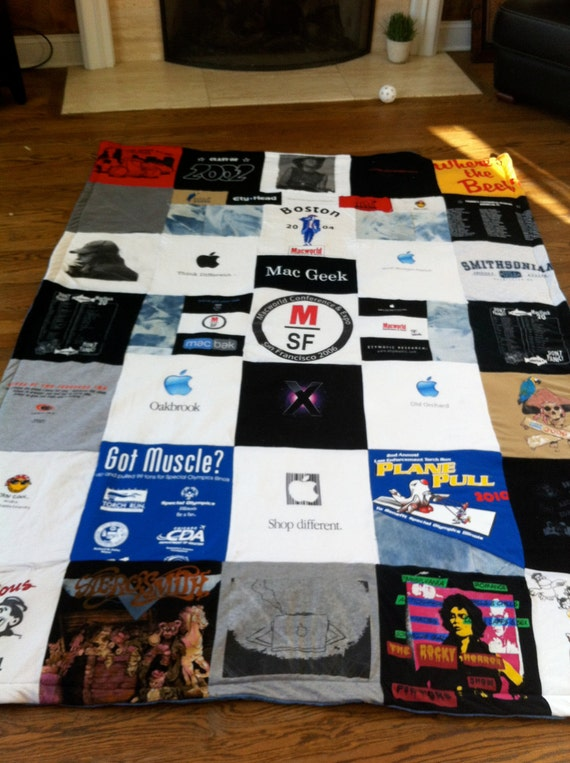 Custom Made T-Shirt Quilt Blanket Memory Blanket