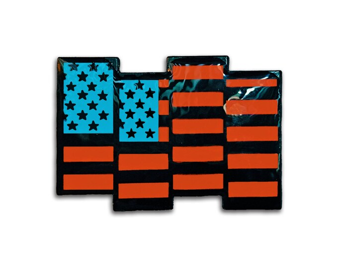 USA Black Flag Pin