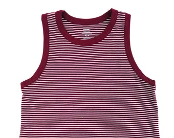 Grunge Stripe Crop Top Tank Top