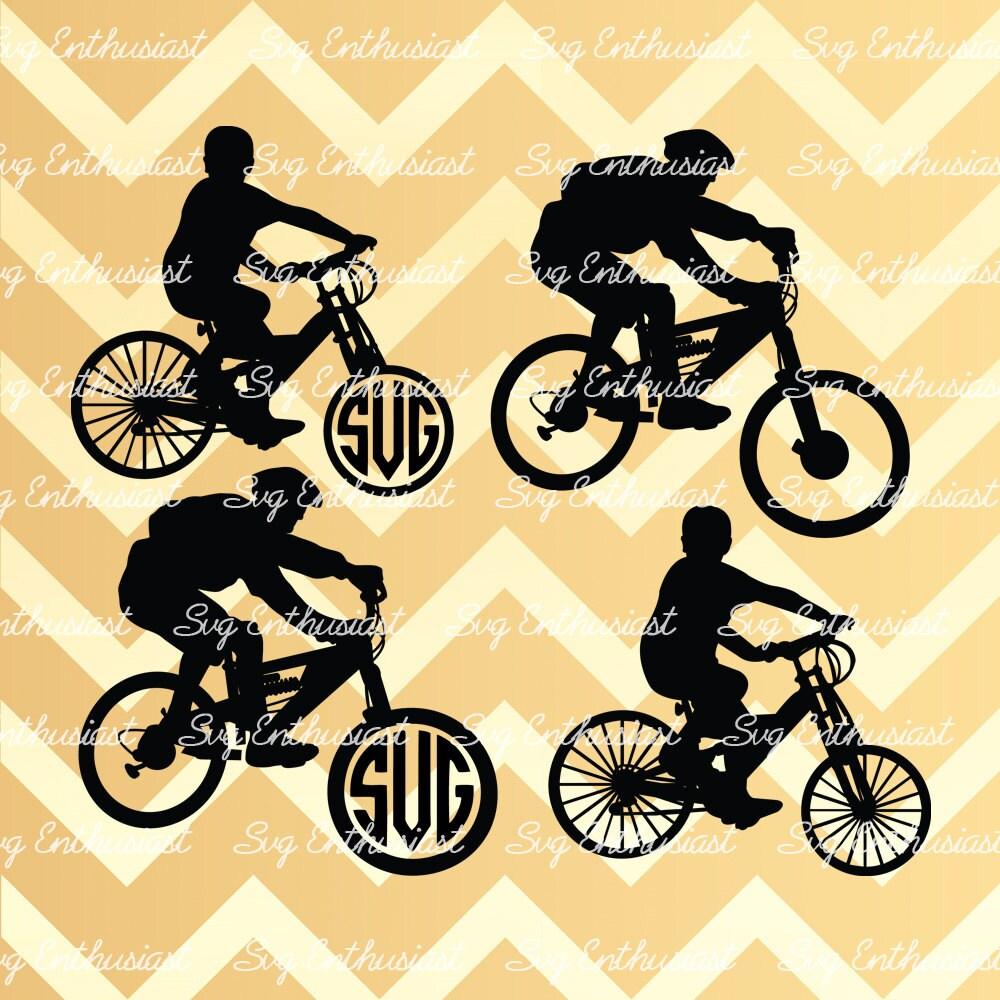 Cycling SVG, Bike monogram SVG, Bike Monogram frame, Cyclist svg ...
