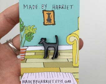 dog enamel pin, dog pin, dog badge, dog pin badge, greyhound pin, galgo pin, dog brooch, dog present, dog gift, Pin cat, pin brooch