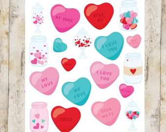 Love Jars Stickers