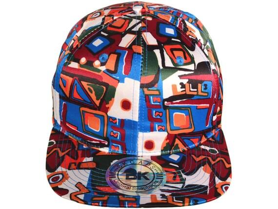 Aztec Snapback Hats Flat Bill BK Caps White Aztec 73662797f16d