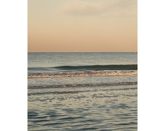 """Oversized Large Minimalist Ocean Photograph, Up to 40x60"""" Vertical Fine Art Photography Print by Tricia McKellar - Interval No. 1303-9509"""