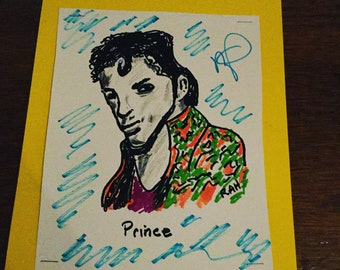 Purple rain by the artist known as Prince