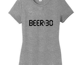 BEER:30 - Funny Drinking Women's Fitted T-Shirt