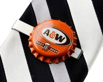 A & W (R) Bottle Cap Tie Clip