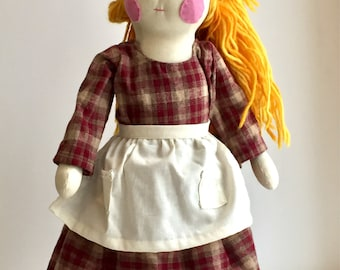 Ever After Cottage Doll; OOAK Doll, Heirloom Doll; Cloth Doll; Handmade Doll; Waldorf Style Doll; Natural Doll; Natural Fiber Doll