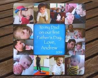 Personalized Father's Day Gift, Unique Mother's Day Gift - Baby Picture Frame, Baby's First Year, Unique Custom Baby Collage, Dad Birthday