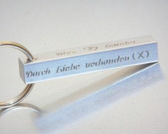 Personalised Aluminum Bar Keychain, Personalized Custom Keychain, Personalised gift, Monogram Keychain, Rectangle Bar Keychain, Keychain