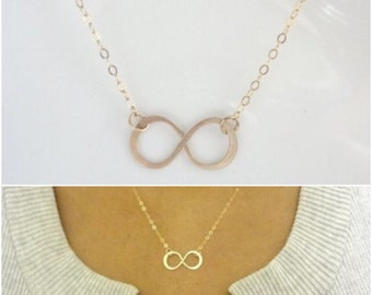Infinity Friendship Necklace For 12345678, Gifts For My Bridesmaids, Minimalist Wedding Ideas, Gift For my Wife, Handmade Jewelry