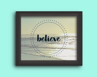 "11x14 Wall Gallery Art""Believe"" - Digital Download"