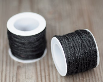 Black Linen Rope, Craft Supplies, Decor Supplies, Packaging Supplies, Grey Rope, Packaging Idea, Natural Linen Cord, Decorative Rope