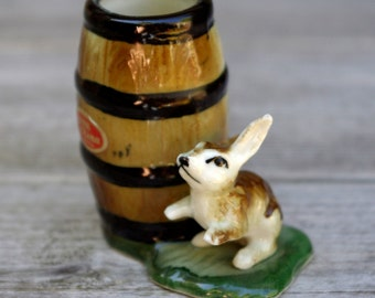 Rabbit Toothpick Holder Bone China Japan