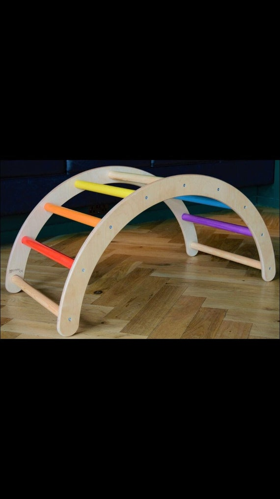 Rainbow Hump Pikler inspired climbing frame arch
