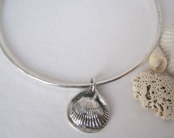 Sterling Silver Shell Bangle