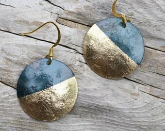 Modern Iron Earrings, Iron Earrings, Modern Jewelry, Iron Anniversary Gift