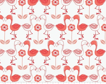 By-The-Yard 100% Cotton Flamingo Fabric. Flamingo Quilting Cotton. Camelot Fabrics. The Mom Project.