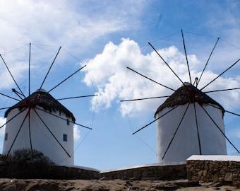 Windmills; Mykonos Greece- Fine Art Photography travel wall art