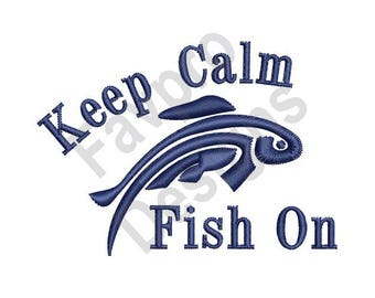 Fish On - Machine Embroidery Design