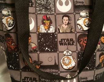 Star Wars Force Awakens  Squares Insulated Zip-up Lunch bag