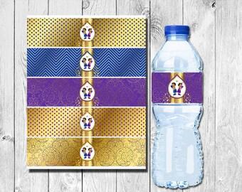 Boxing Girl vs Boy Gender Reveal Party Favor Decorations Printable Water Bottle Labels Instant Down Load DIY