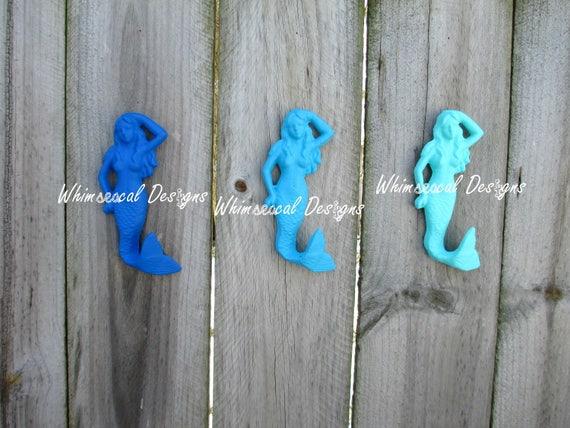 Mermaid Bathroom Decor And Accessories: Set Of 3 Cast Iron Mermaid Mermaid Hook Mermaid Decor