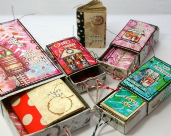 On-line mini class - Marvelous Miniatures (or the art of altered matchboxes)