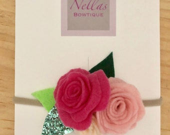 Felt flowers headband /girls accessories /girls headbands /baby headbands