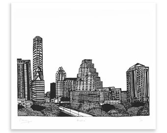 Austin Limited Edition Screen Print