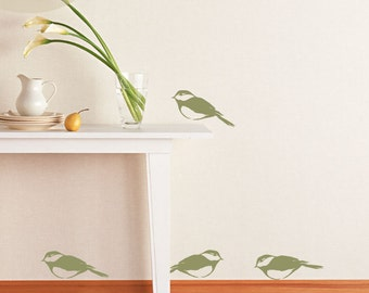 Birdies - Set of 4 -  Vinyl Wall Decal
