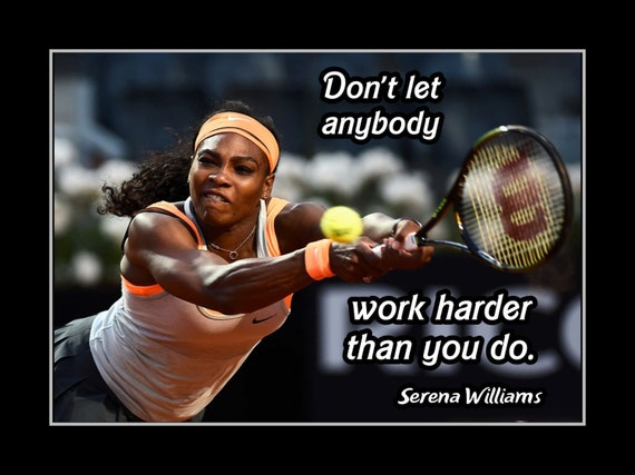Tennis Inspirational Quote Poster Gift Champion Photo Wall