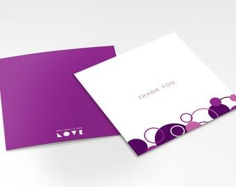 Thank You Card — Purple Circles