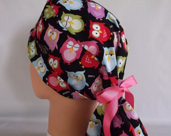 Midnight Shift Ponytail - Womens lined surgical scrub cap - scrub hat, Nurse surgical hat, 42-900 B
