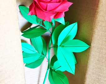 Origami rose etsy more colors paper rose origami rose origami flower mightylinksfo