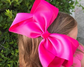 8 Inch Hair Bows, HUGE Hair Bow, Solid Color Hair Bow, Boutique Hair Bow, XL Bow, Giant Hair Bow